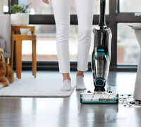 Scrub, Vacuum, Wash, and now, Sanitize Your Hard Floors with BISSELL!