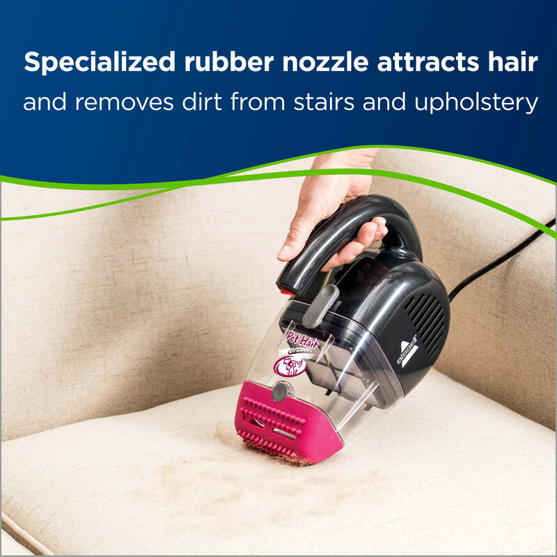 Pet Hair Eraser Handvac Upholstery Nozzle Attracts Hair