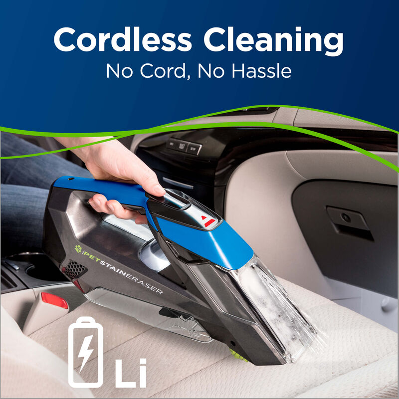 BISSELL Pet Stain Eraser™ Cordless Portable Carpet Cleaner 20037 Cordless Cleaning