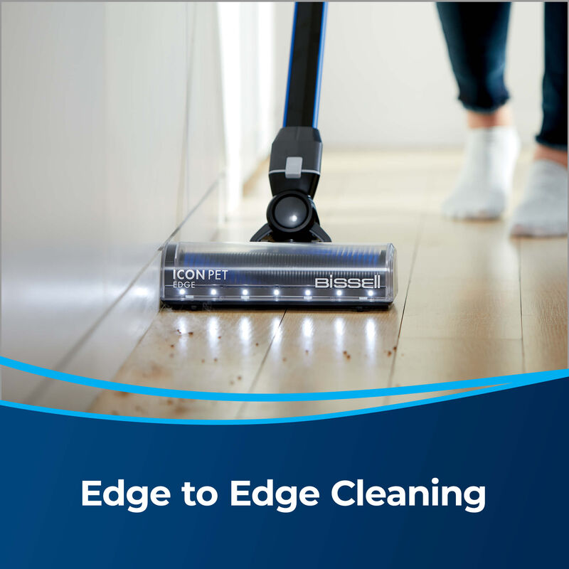 BISSELL® ICONpet™ EDGE Cordless Vacuum 2894A Edge Cleaning