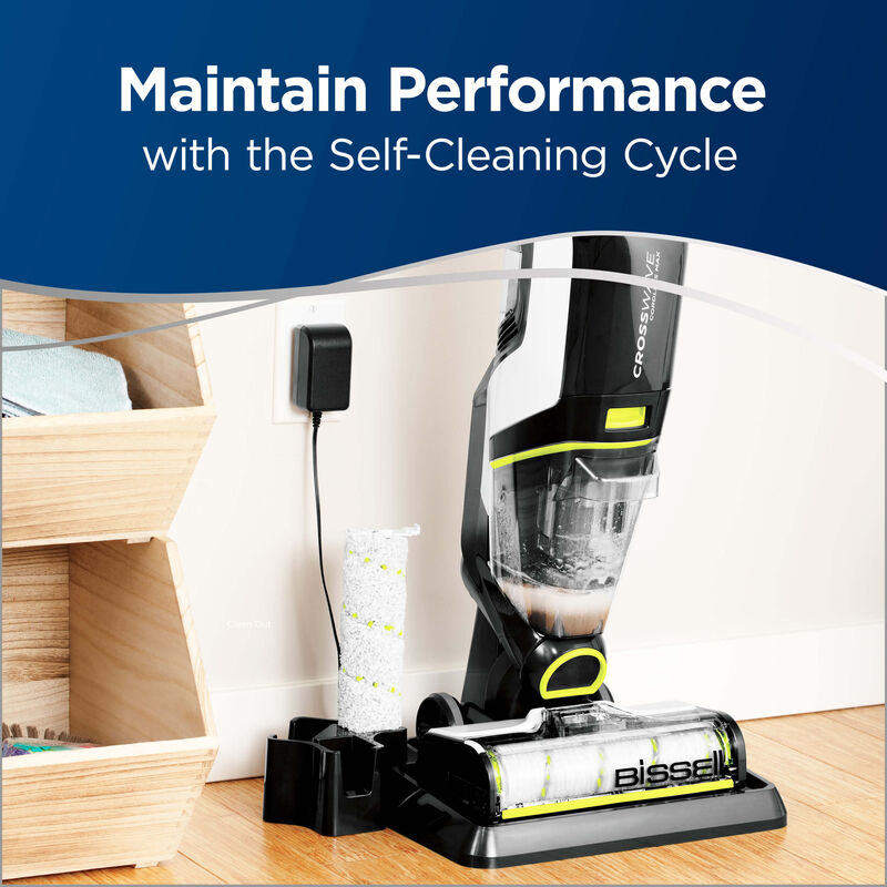 BISSELL CrossWave Cordless Max Floor and Carpet Cleaner with Wet Dry Vacuum 2590 Self Cleaning