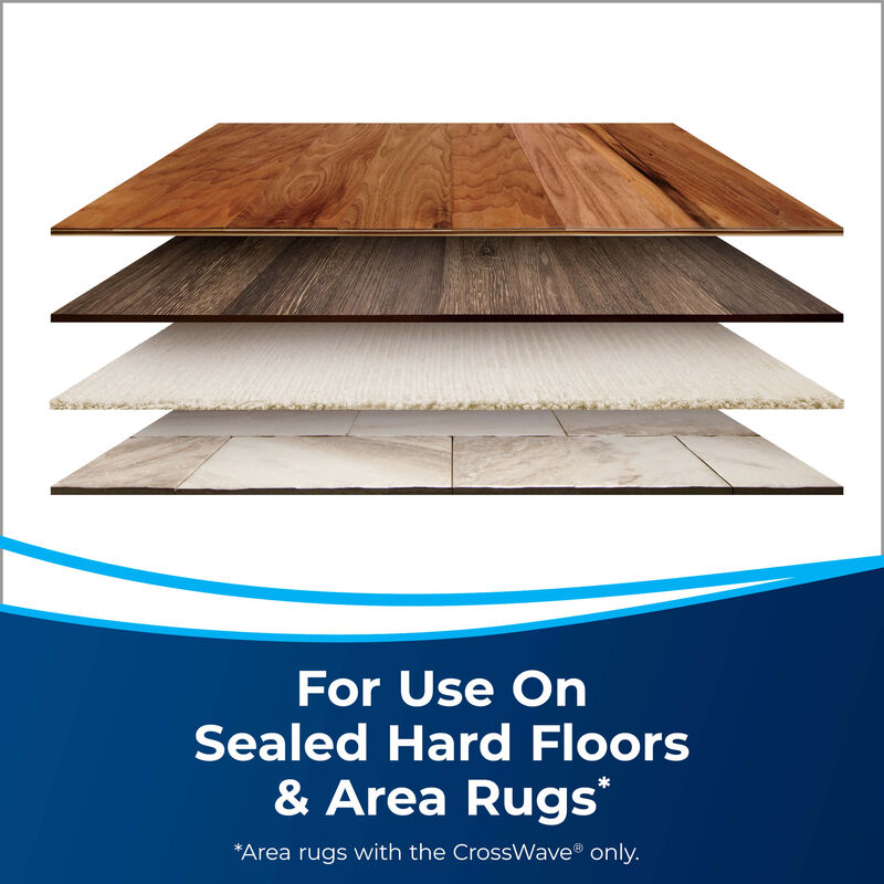 Comparing floors Text: For use on sealed hard floors and Area Rugs