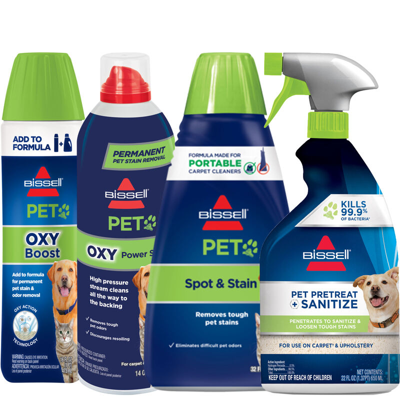 BISSELL Portable Carpet Cleaner Formula and Sanitize Spot and Stain Bundle B0153
