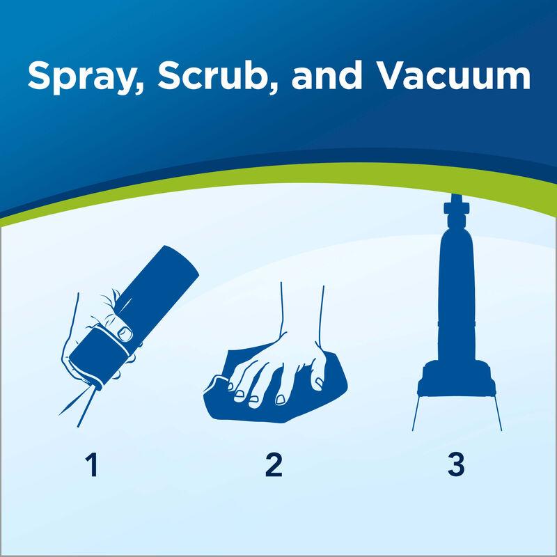 Woolite Heavy Traffic Foam Carpet Cleaner 0820 Spray, Scrub, and Vacuum