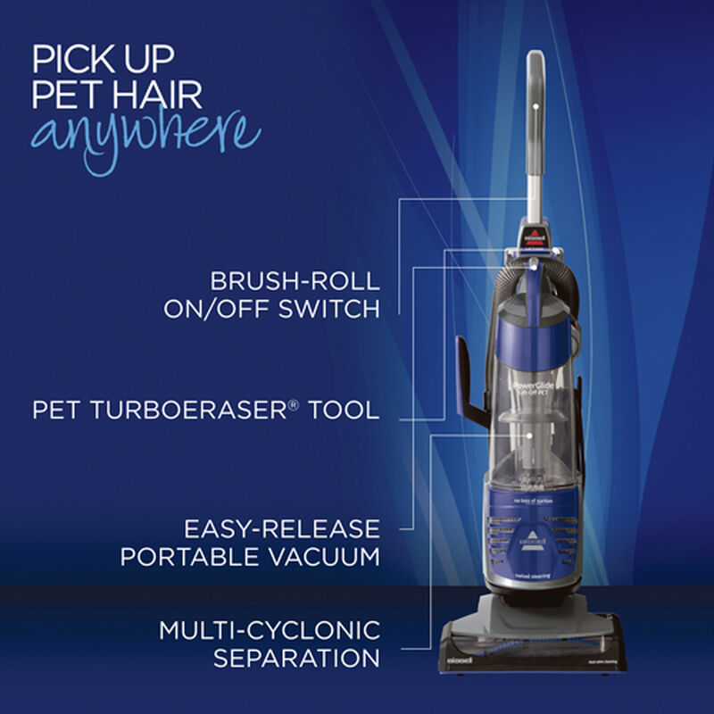 PowerGlide Deluxe Pet LiftOff Vacuum 2763 Product Features