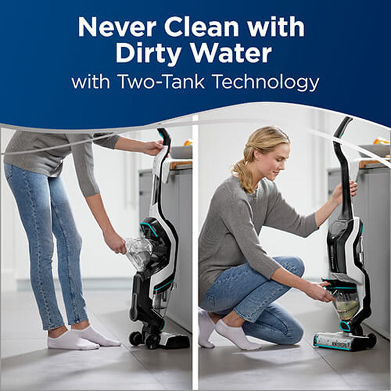 CrossWave Cordless Max Wet Dry Vac 2596 BISSELL Two Tank