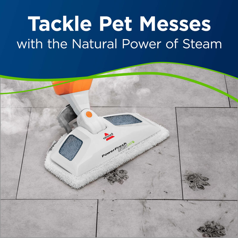 Powerfresh Pet Lift-Off Steam Mop Tackle Pet Messes