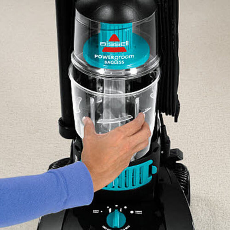PowerGroom Bagless 68C77 BISSELL Vacuum Cleaners Remove Dirt Cup