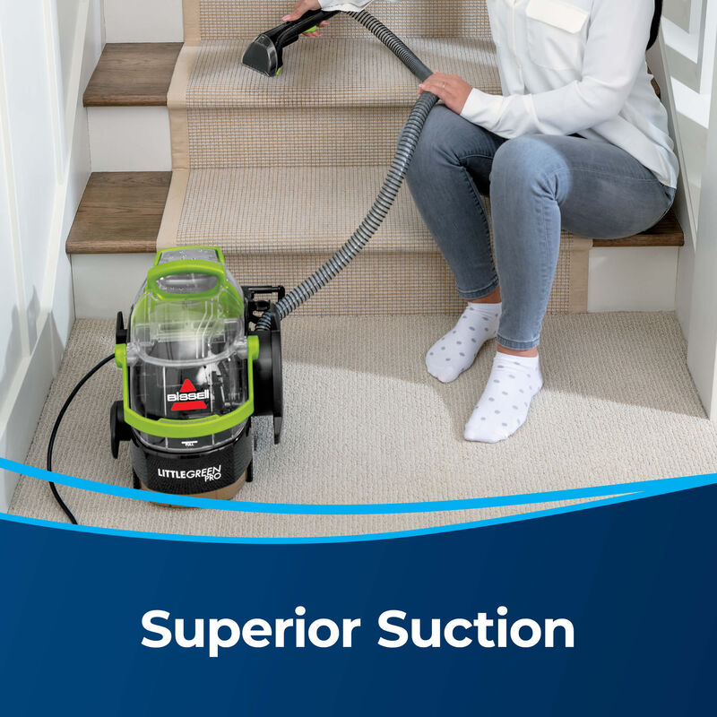 BISSELL Little Green Pro Portable Carpet Cleaner 2505 Superior Suction