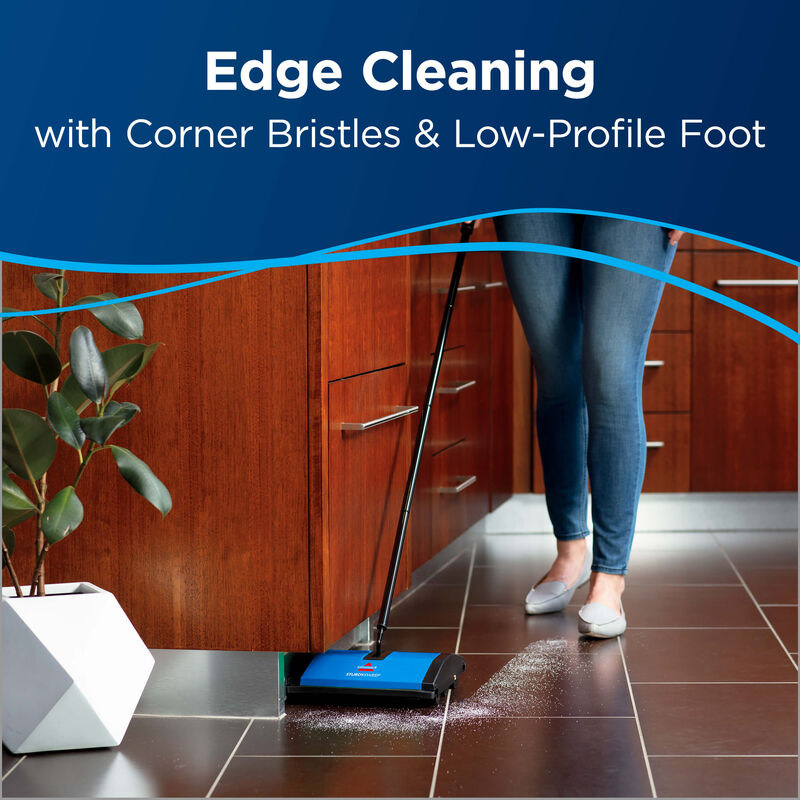 Sturdy Sweep™ Carpet & Floor Manual Sweeper 5232V BISSELL Sweepers Edge Cleaning