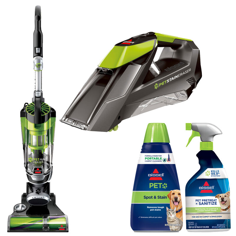 BISSELL New Pet Deluxe Vacuum Cleaner and Portable Carpet Cleaner Bundle B0015