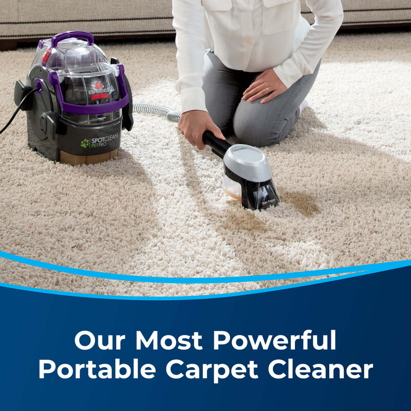 BISSELL SpotClean Pet Pro™ Portable Carpet Cleaner 2458 Most Powerful Carpet Cleaner