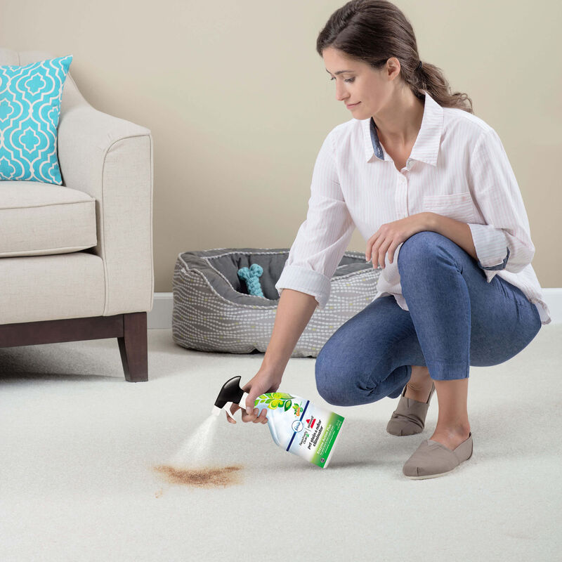 BISSELL Enzyme Action Plus Pet Stain & Odor Eliminator 1931 In Use