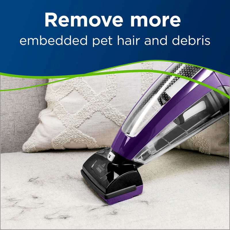BISSELL Pet Hair Eraser Lithium Ion Hand vac 2390 Vacuums Rotating Brush