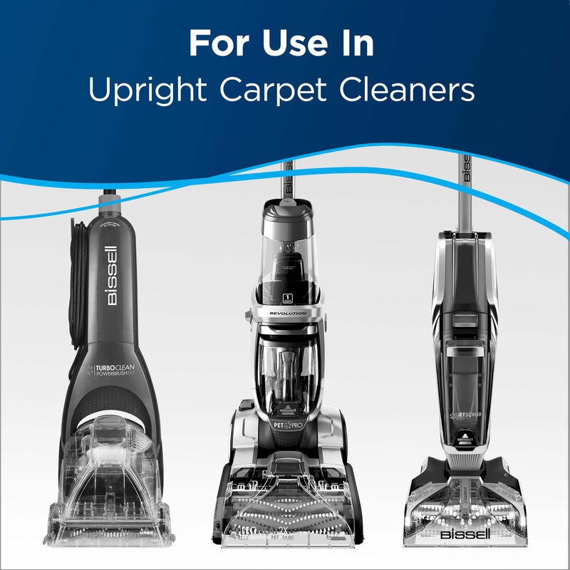 Carpet Cleaner. Text: For use in Upright carpet cleaners