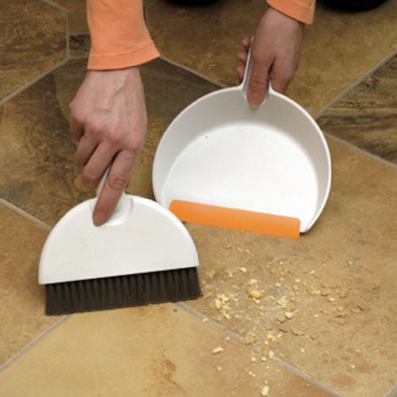 Mini dustpan and hand broom set 1745 floor messes