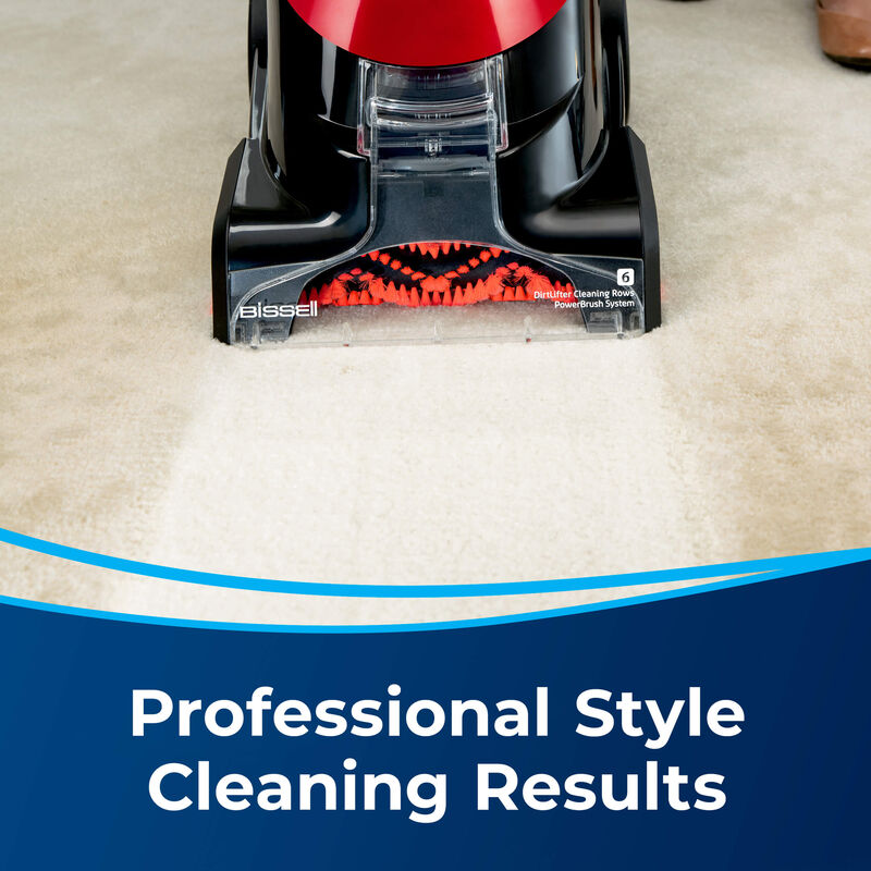 BISSELL ProHeat® Essential Upright Carpet Cleaner 1887 Professional Cleaning Results
