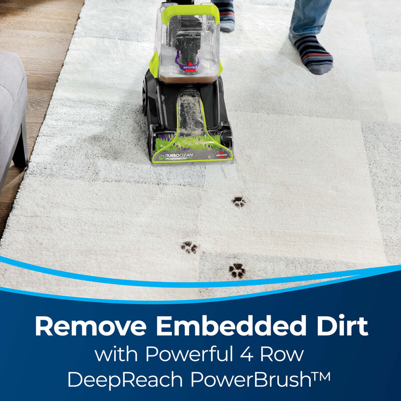 BISSELL TurboClean PowerBrush Pet Carpet Cleaner 2987 Embedded Dirt