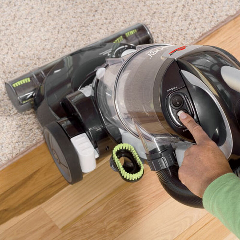 Trilogy MultiCyclonic Bagless Vacuum 81M9 brush on off