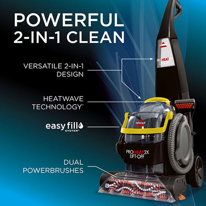 Proheat 2X LiftOff Upright Carpet Cleaner 1560 2 in 1