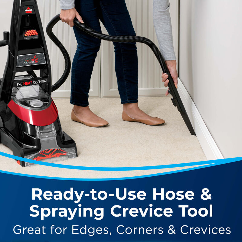 BISSELL ProHeat® Essential Upright Carpet Cleaner 1887 Hose & Tools