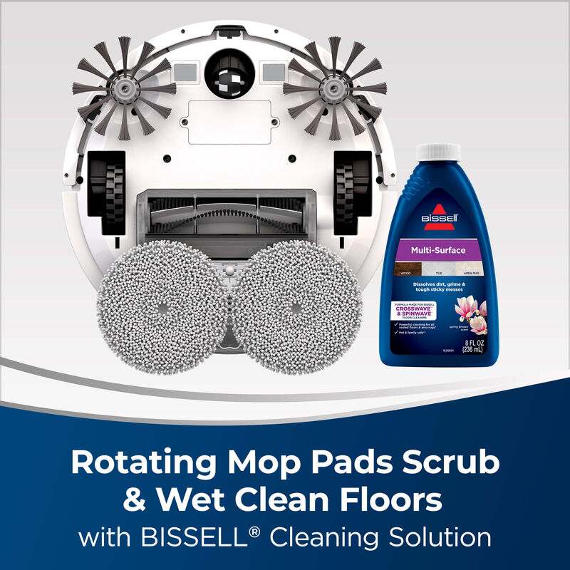 BISSELL Spinwave Wet And Dry Robotic Vacuum 28599 Rotating Mop Pads