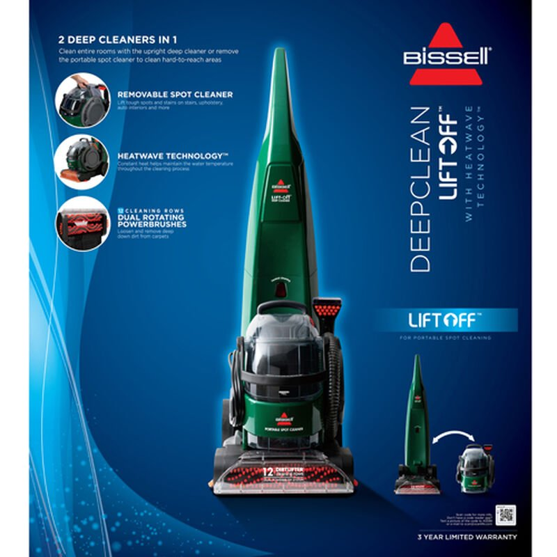 DeepClean LiftOff Carpet Cleaner Features