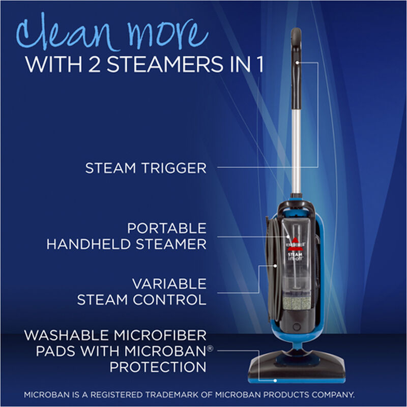 LiftOff Steam Mop 39W78 Product Features