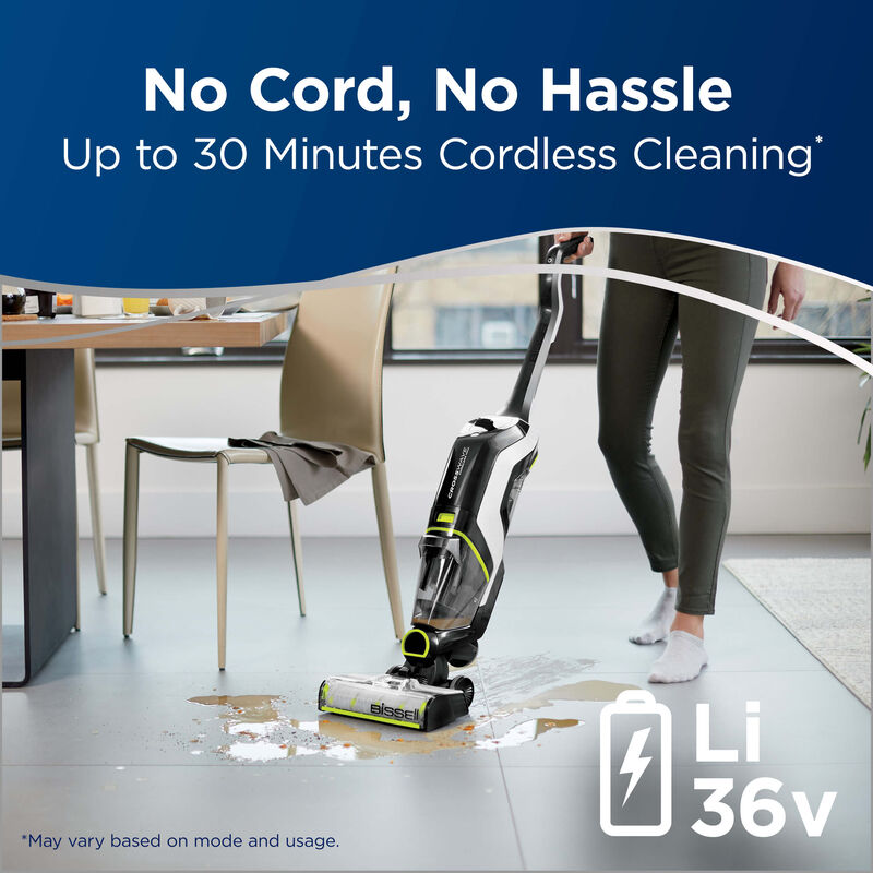BISSELL CrossWave Cordless Max Floor and Carpet Cleaner with Wet Dry Vacuum 2590 No Cord