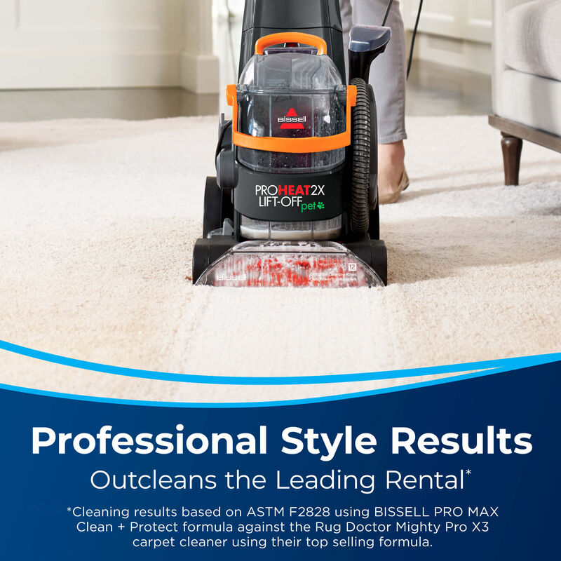 BISSELL ProHeat 2X® Lift-Off® Pet Upright Carpet Cleaner 15651 Professional Results
