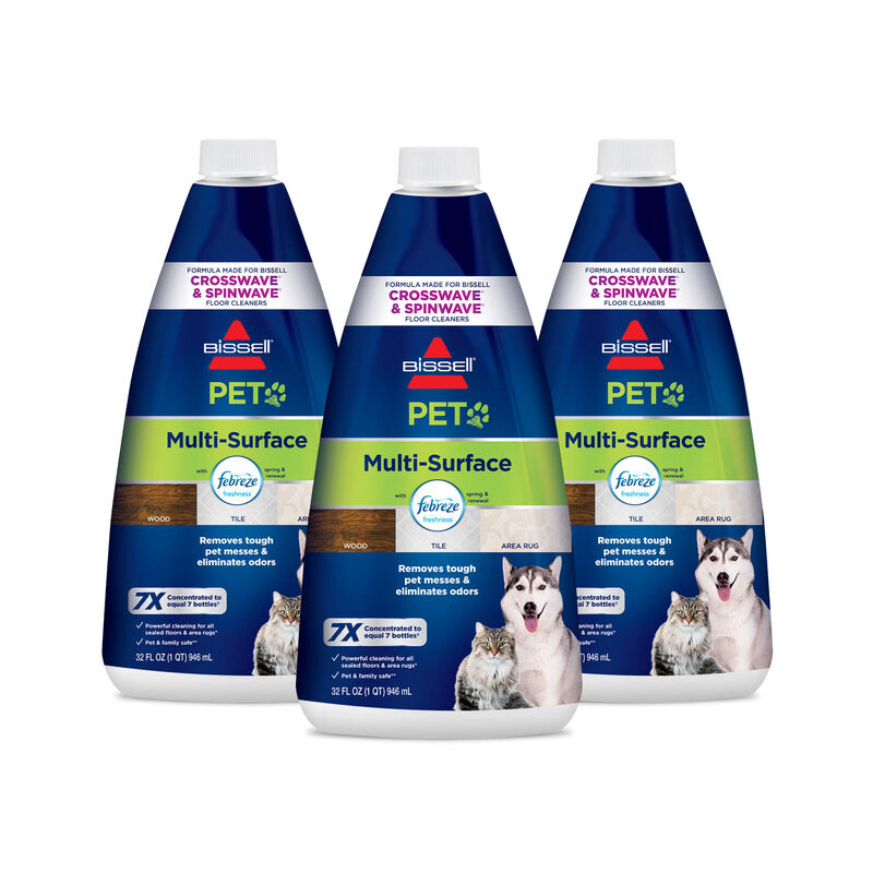 BISSELL PET Multi-Surface Formula with Febreze 22959 CrossWave SpinWave JetScrub Hero