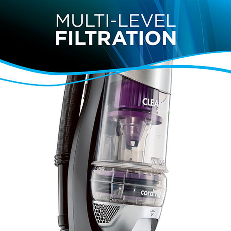 CleanView Rewind Pet Deluxe 1838 BISSELL Vacuum Cleaner Filtration