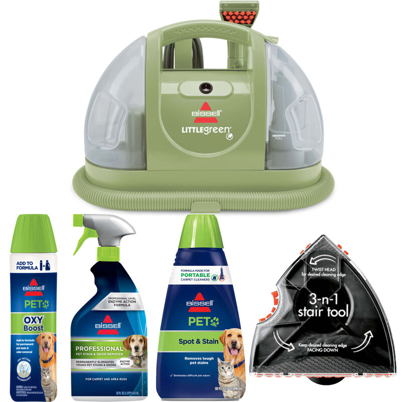 BISSELL Little Green Portable Carpet Cleaner Pet Stain Removal Bundle B0170
