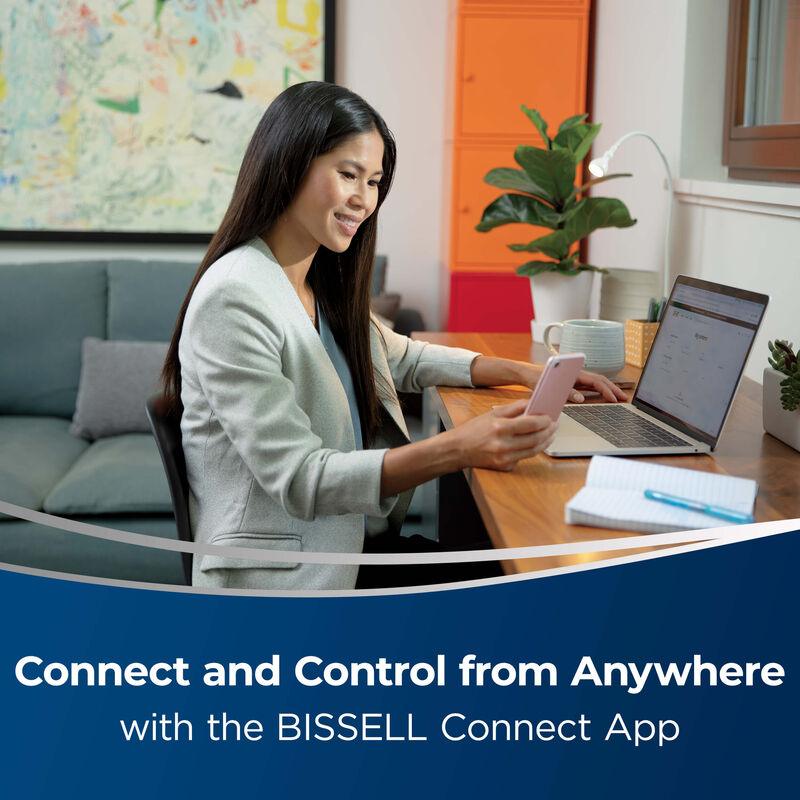BISSELL Spinwave Wet And Dry Robotic Vacuum 28599 Connect and Control from Anywhere