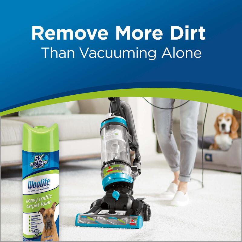 Woolite Heavy Traffic Foam Carpet Cleaner 0820 Remove More Dirt