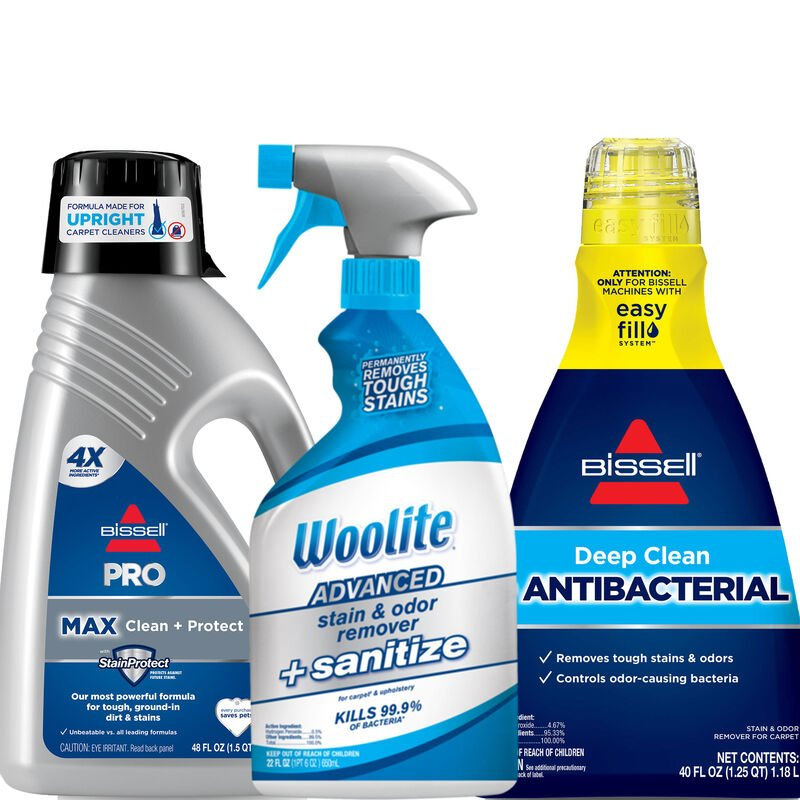 Deep Clean Antibacterial Sanitize Bundle for Upright Carpet Cleaners B0156