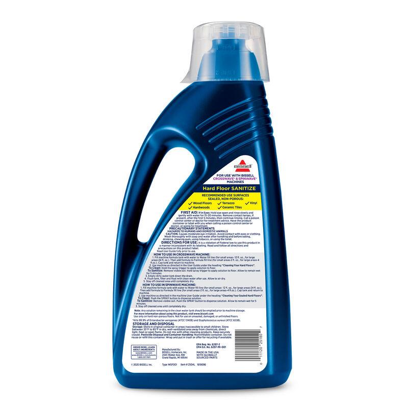 Hard Floor Sanitize Formula 2504L BISSELL CrossWave SpinWave Formula Back