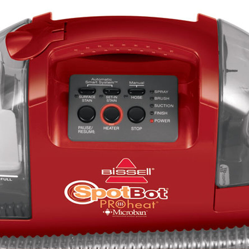 Spotbot Proheat Portable Carpet Cleaner 12U9 Control Panel