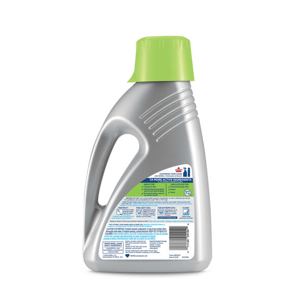 PET PRO OXY with Febreze 2216 BISSELL Carpet Cleaning Formulas Back