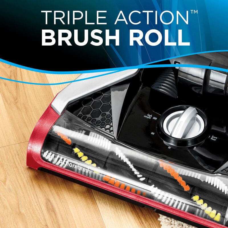 Cleanview Plus Rewind Triple Action Brush Roll