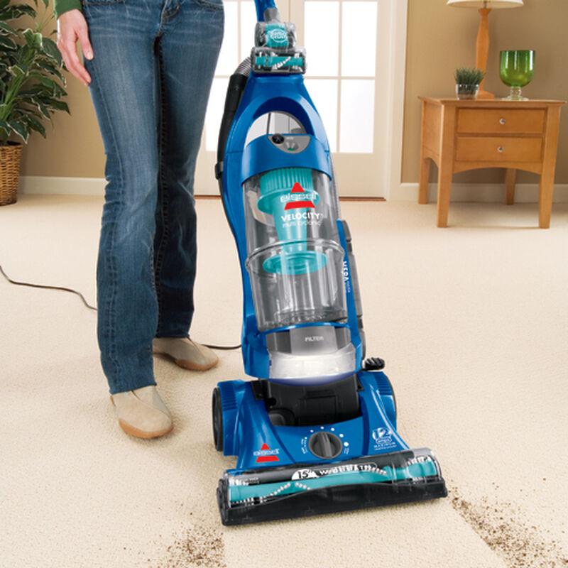 Velocity Baggless Vacuum 75B21 carpet dirt