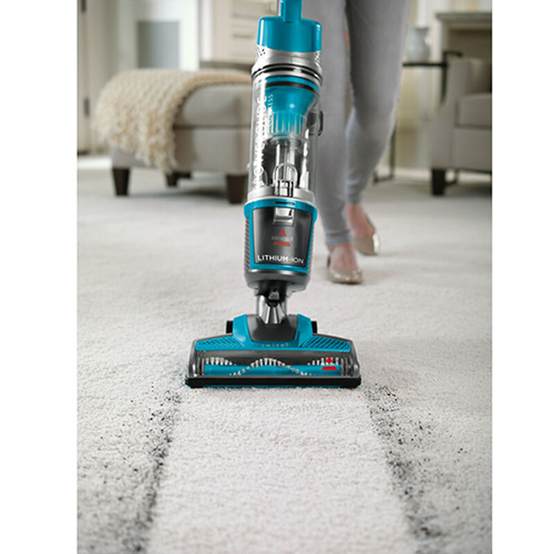 Powerglide Cordless Upright Vacuum 1534 Cleaning Path