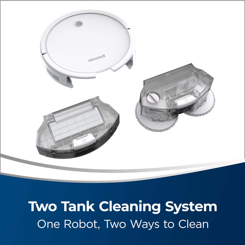 BISSELL Spinwave Wet And Dry Robotic Vacuum 28599 Two Tank Cleaning System