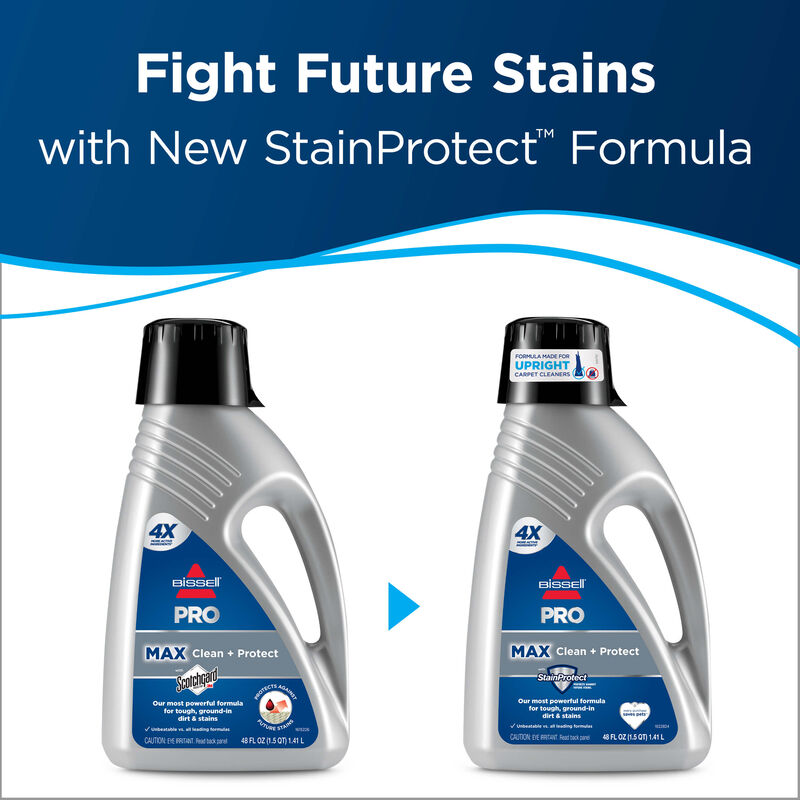 PRO MAX Clean + Protect Formula BISSELL Carpet Cleaning Formulas Future Stains