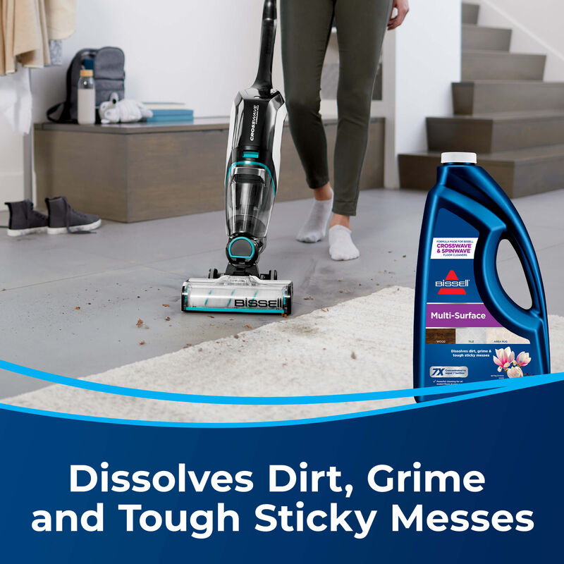 BISSELL Multi-Surface Formula 17891 CrossWave MultiSurface Wet Dry Vac SpinWave Spin Mop Messes