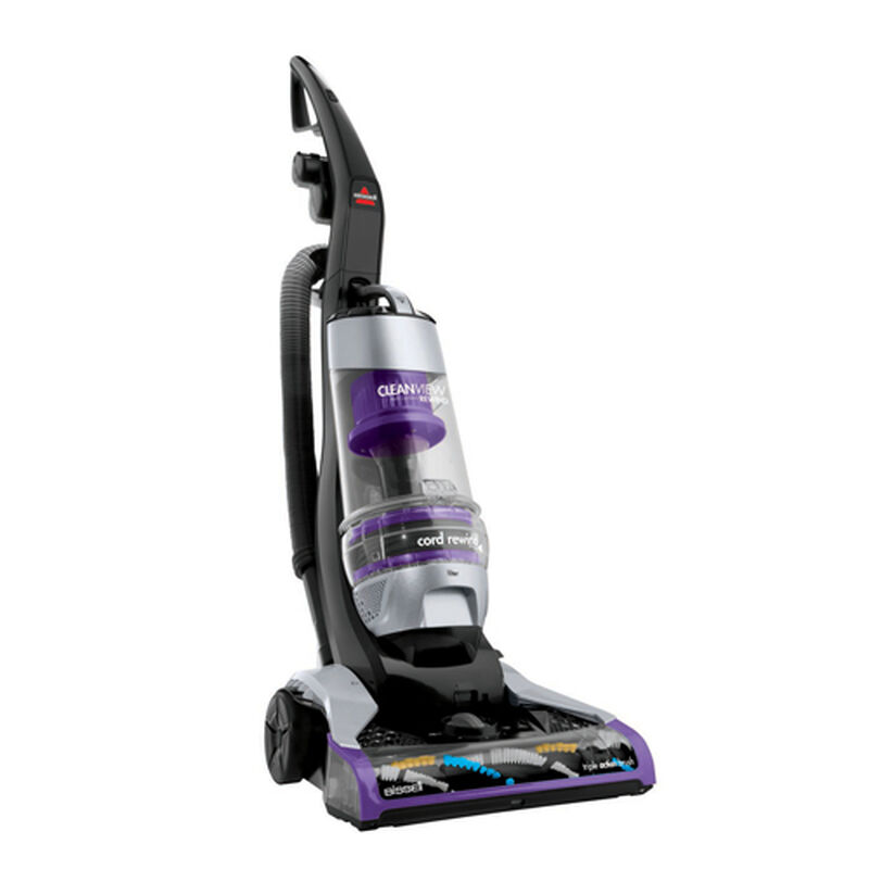 CleanView Deluxe Rewind Upright Vacuum 1322 Right Angle Recline View