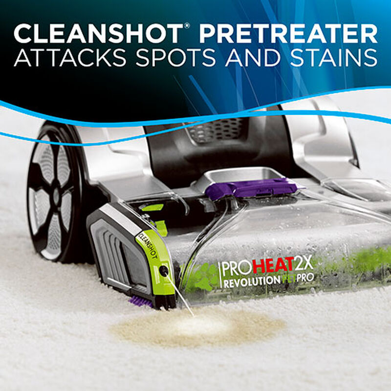 ProHeat 2X Revolution Pet Pro 1986 BISSELL Carpet Cleaner Machine Clean Shot Action