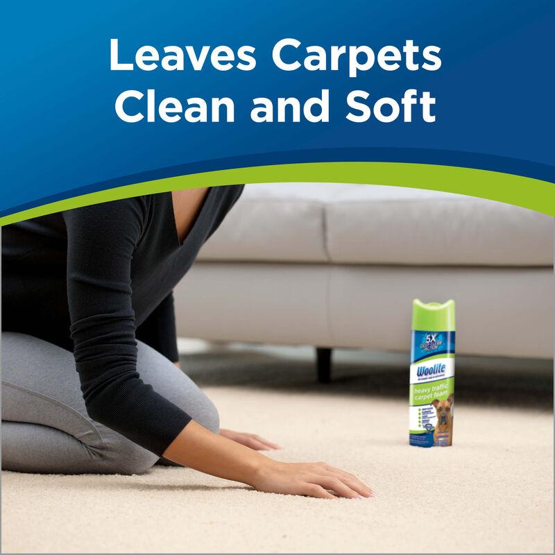 Woolite Heavy Traffic Foam Carpet Cleaner 0820 Clean & Soft Carpets