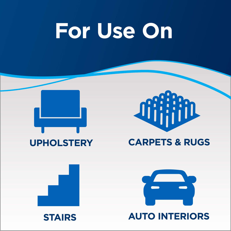 for use Text: upholstery, carpets & rugs, stairs, auto interiors