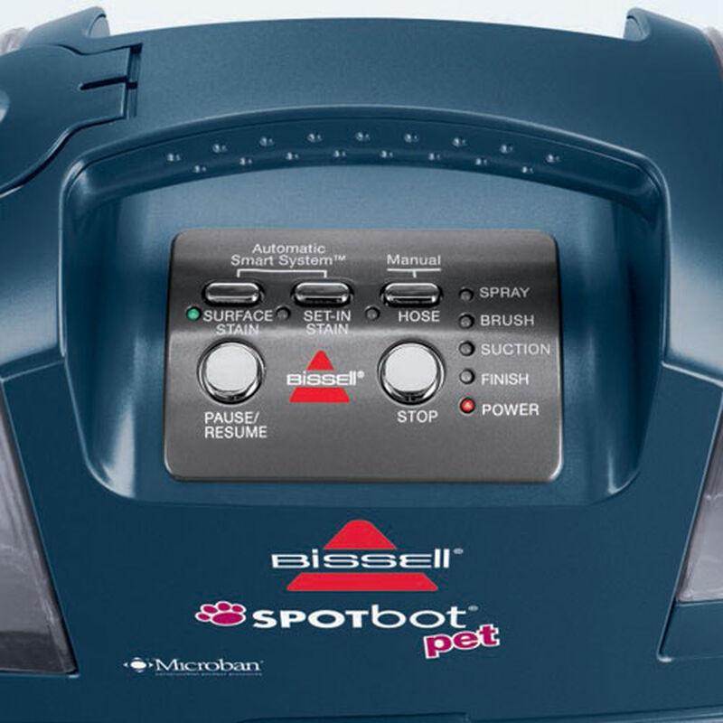Spotbot Pet Portable Carpet Cleaner 12006 Control Panel